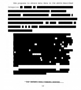 Picture of the 2004 FISC opinion released in response to FOIA request.